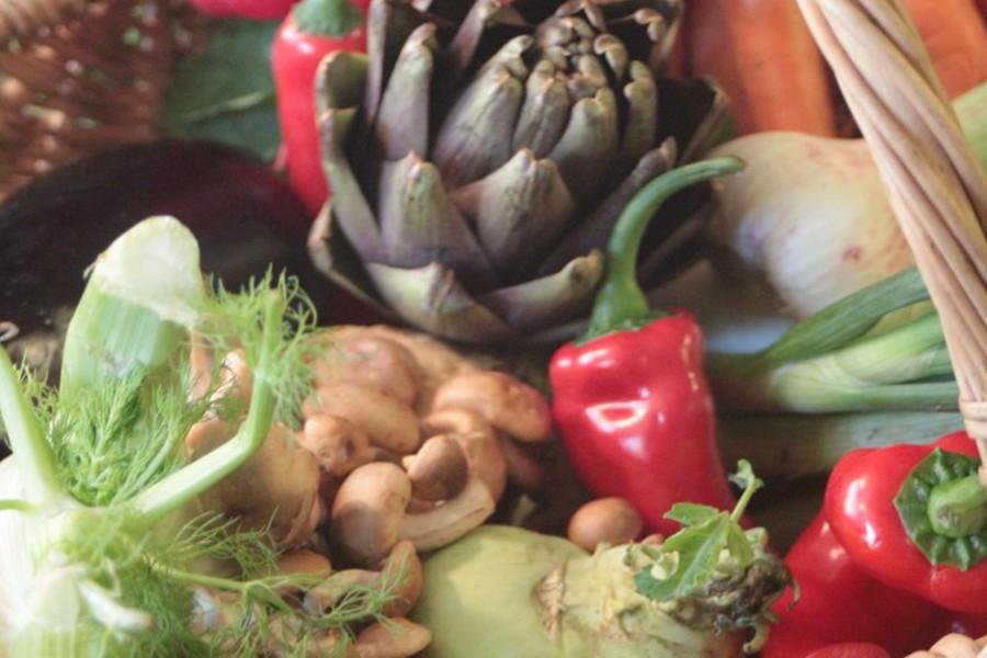 Vegetable carpaccio with samurai vinegar tonic
