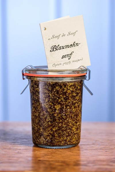 Mustard Senf de Senf mit Blaumohn