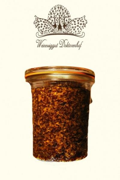 Mustard Senf de Senf mit Steinpilzen